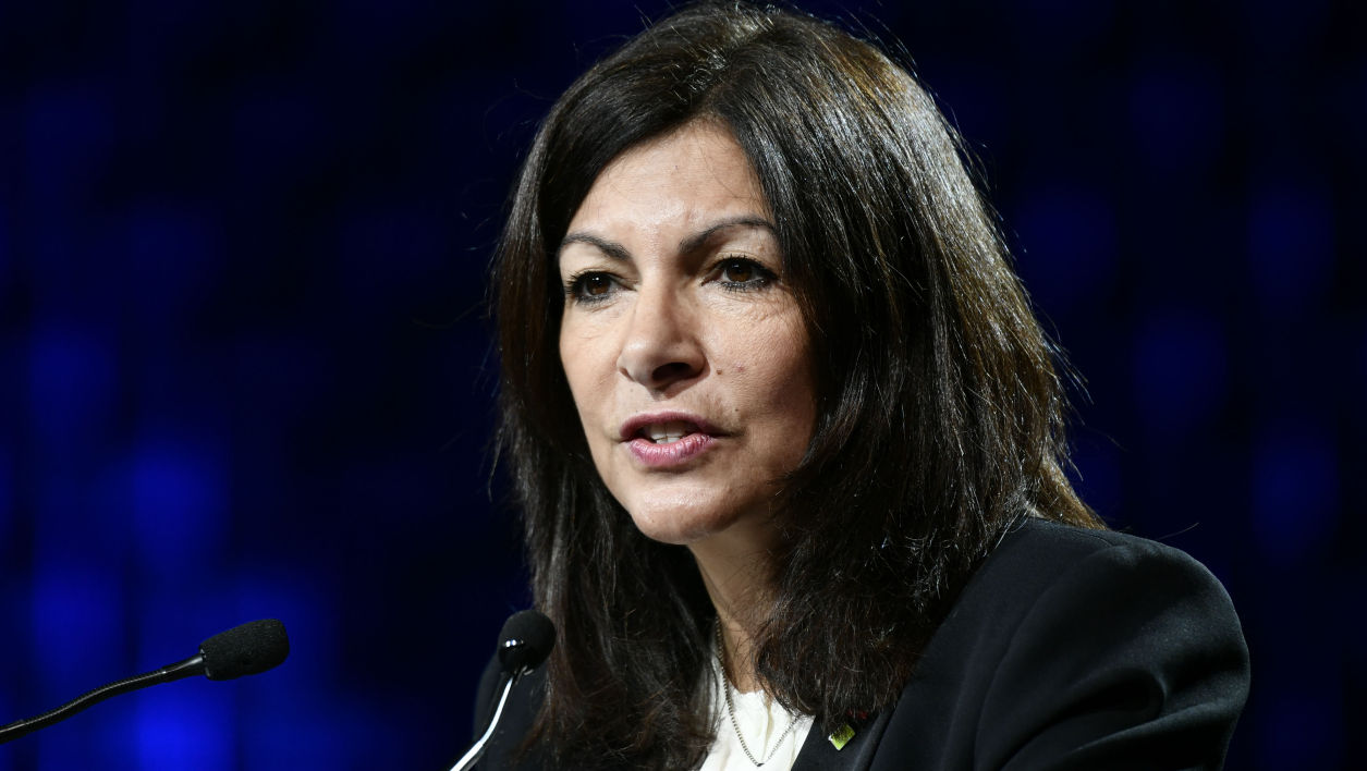 Anne Hidalgo le 12 décembre 2017 durant le One Planet summit à Paris.