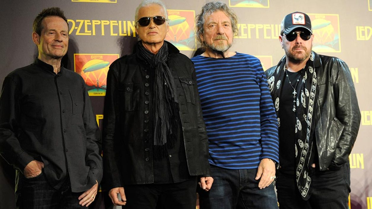 John Paul Jones, Jimmy Page, Robert Plant and Jason Bonham attend Led Zeppelin Celebration Day Press Conference on October 9, 2012 in New York City.