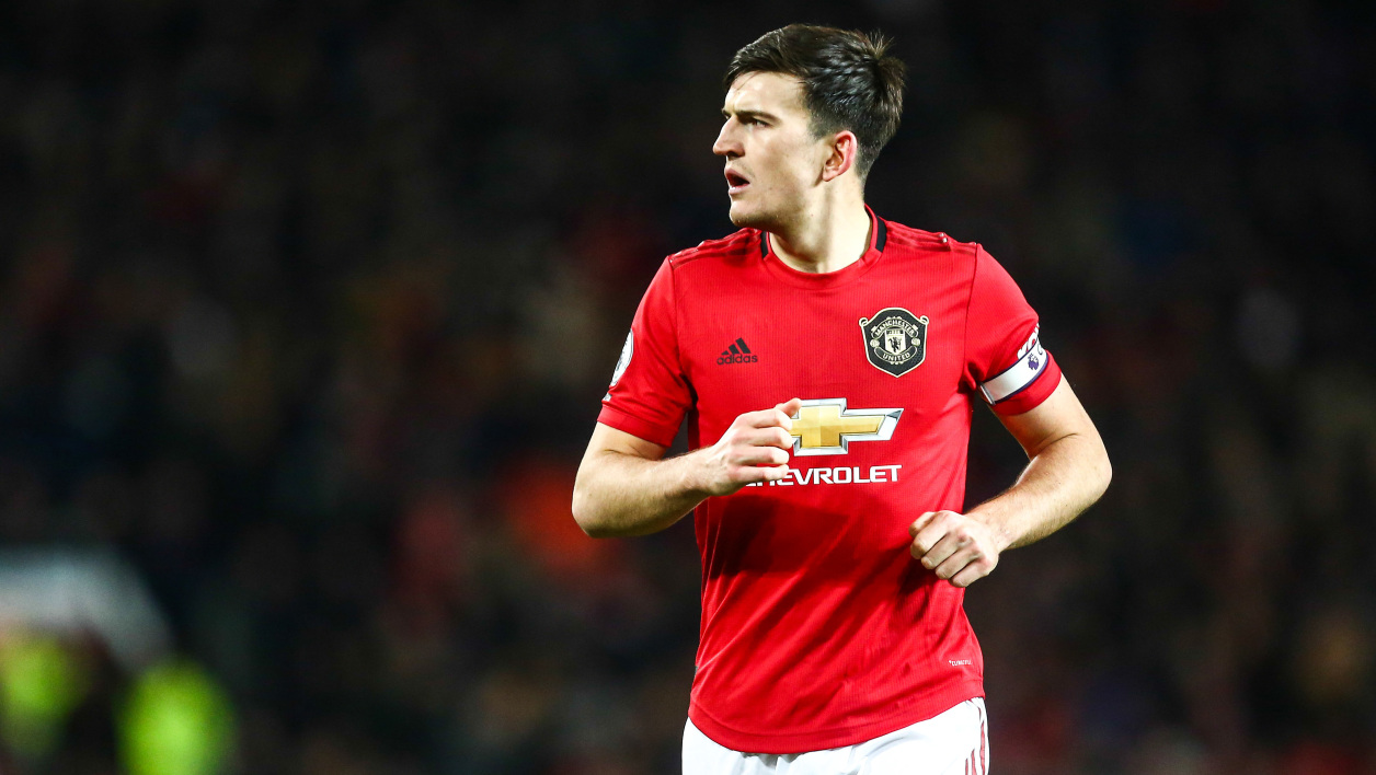 Harry Maguire avec Manchester United