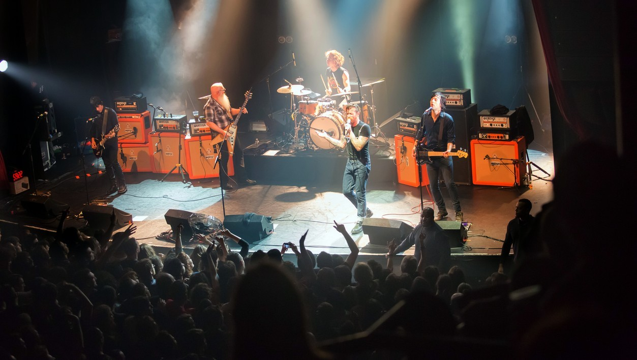 Le groupe Eagles of Death au Bataclan, avant l'attaque terroriste.