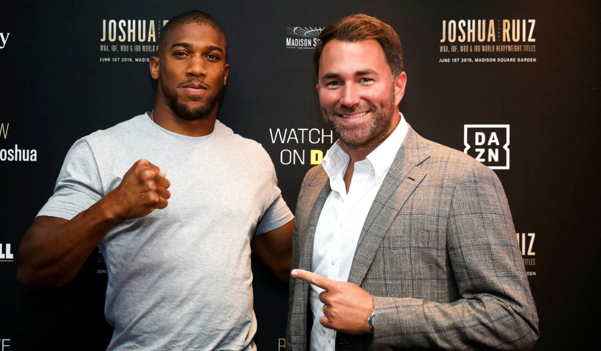 Eddie Hearn et Anthony Joshua