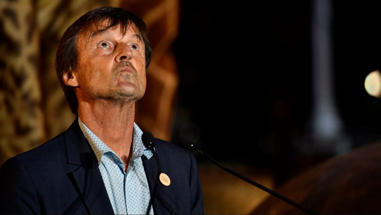French Minister for the Ecological and Inclusive Transition Nicolas Hulot is seen during the biodiversity conference at Muséum national d'Histoire naturelle in Paris on July 4, 2018.  GERARD JULIEN / POOL / AFP