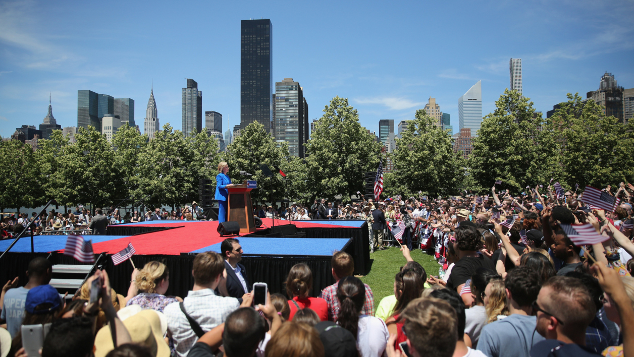 Hillary Clinton lors d'un meeting à New York, le 14 juin.