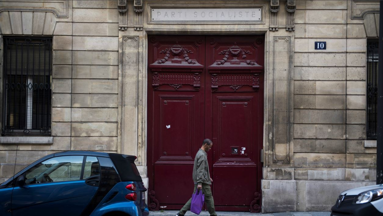 A picture taken on September 20, 2017 in Paris, shows the headquarters of the French Socialist Party (Parti Socialiste, PS), located rue de Solferino. The Socialist Party (PS) has decided to sell its headquarters on the rue de Solferino in Paris, for financial and political reasons, announced PS' treasurer Jean-François Debat on September 19, 2017. Martin BUREAU / AFP