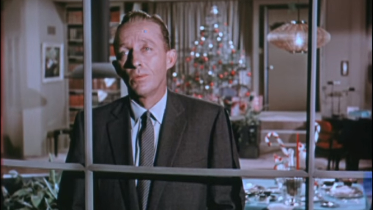 "Bing Crosby dans le clip ""White Christmas"""