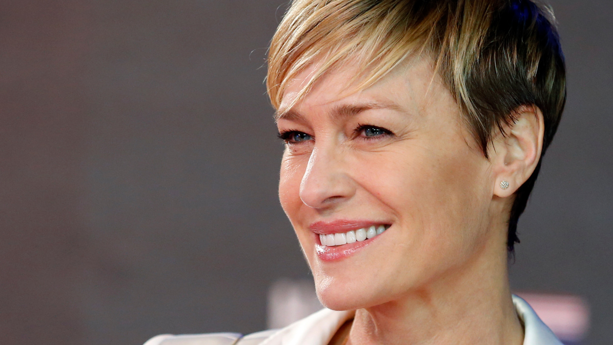 Robin Wright, alias Claire Underwood dans House of Cards, lors de la première de la saison 3 à Londres (photo d'illustration).