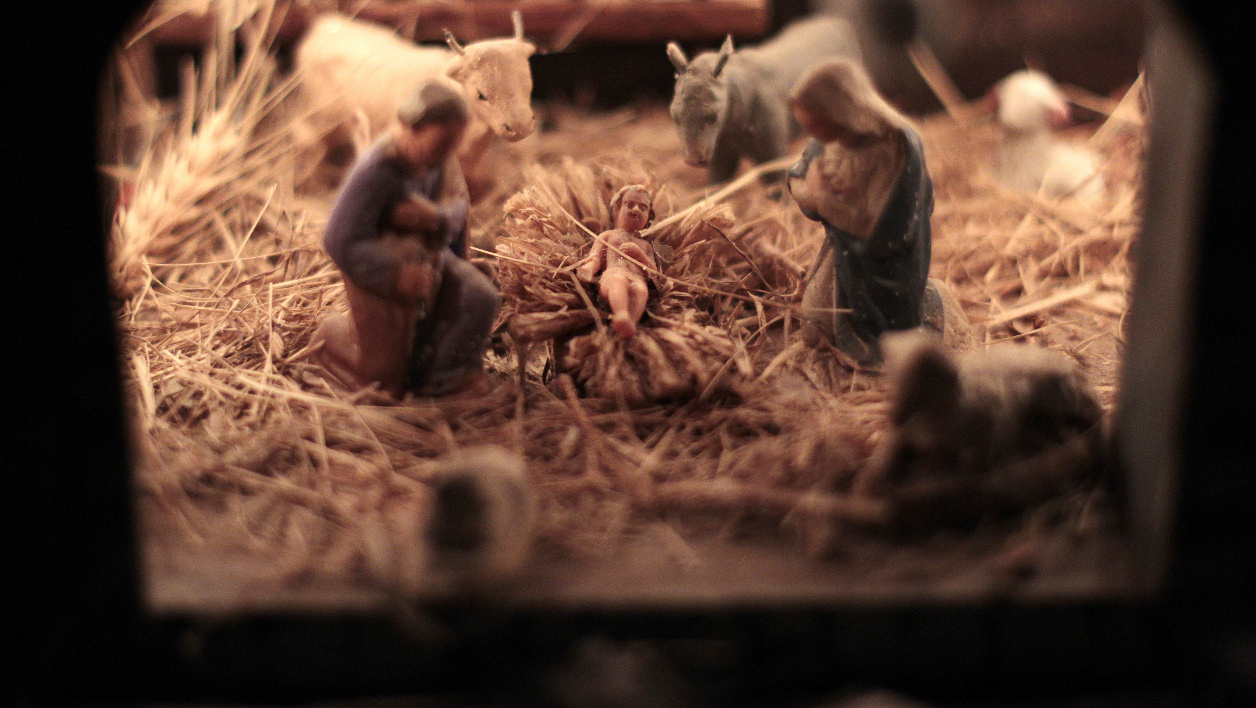 This picture taken on December 21, 2015 shows a Christ's nativity scene in Luceram, southeastern France, on December 21, 2015.  JEAN CHRISTOPHE MAGNENET / AFP