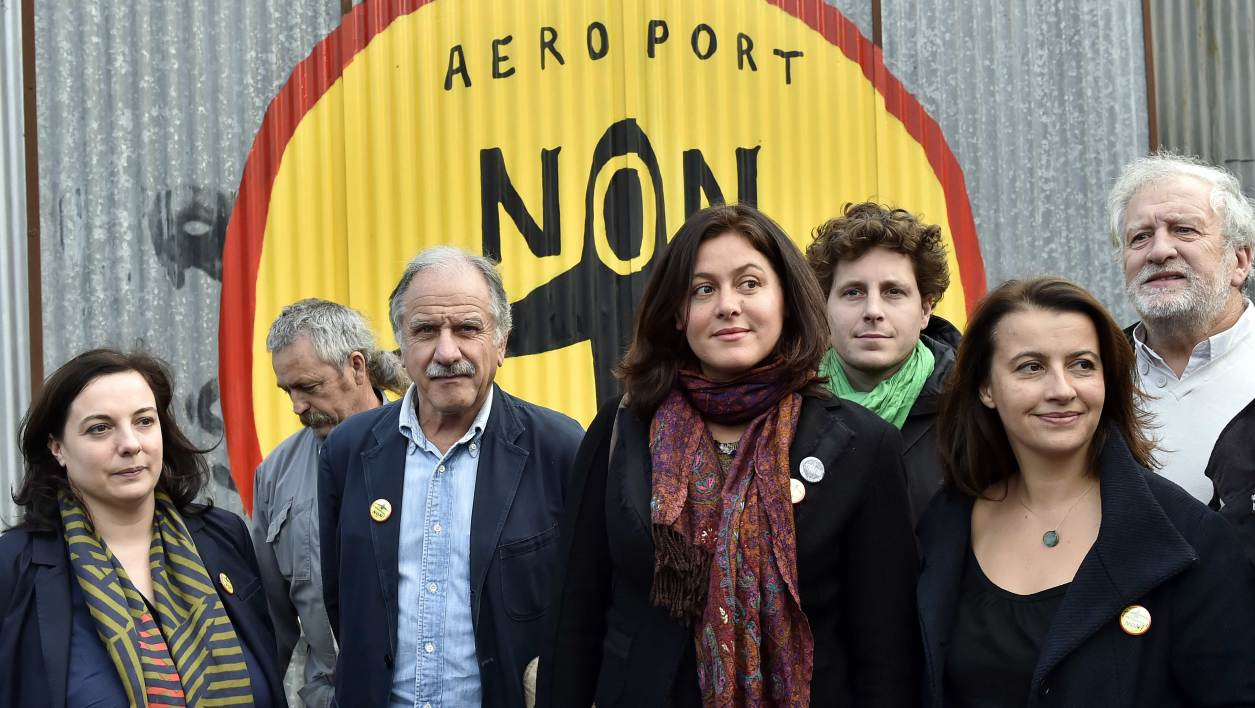 EELV) party's party's National Secretary and party's top candidate in the Ile-de-France for the regional elections Emmanuelle Cosse, French Ecologist MP Noel Mamere, EELV party's candidate in the Pays de la Loire regional elections Sophie Bringuy, French Co-President of the Ecologist group at the National Assembly and former minister Cecile Duflot and EELV