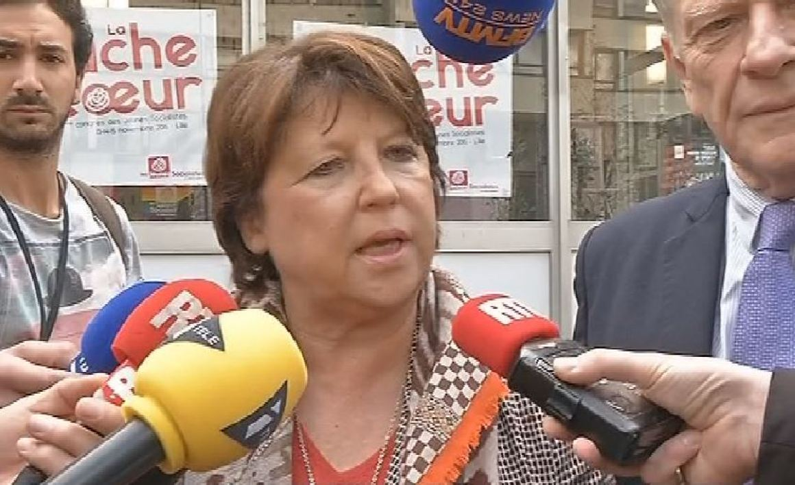 """On sera au second tour et on sera en tête au premier tour"", a martelé Martine Aubry vendredi."