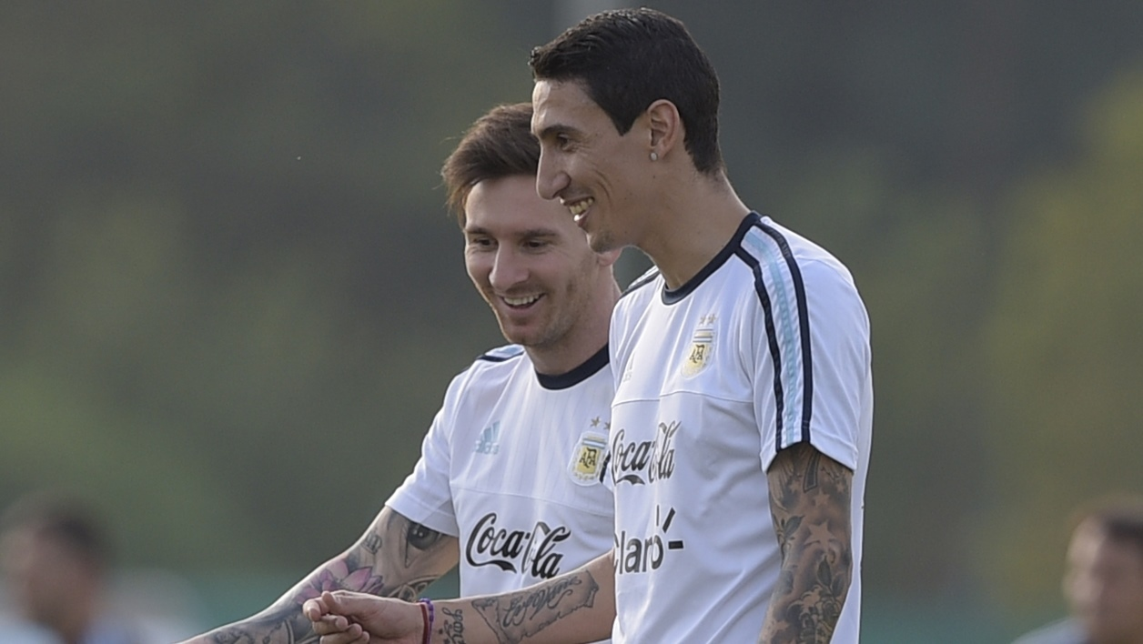 Lionel Messi et Angel Di Maria