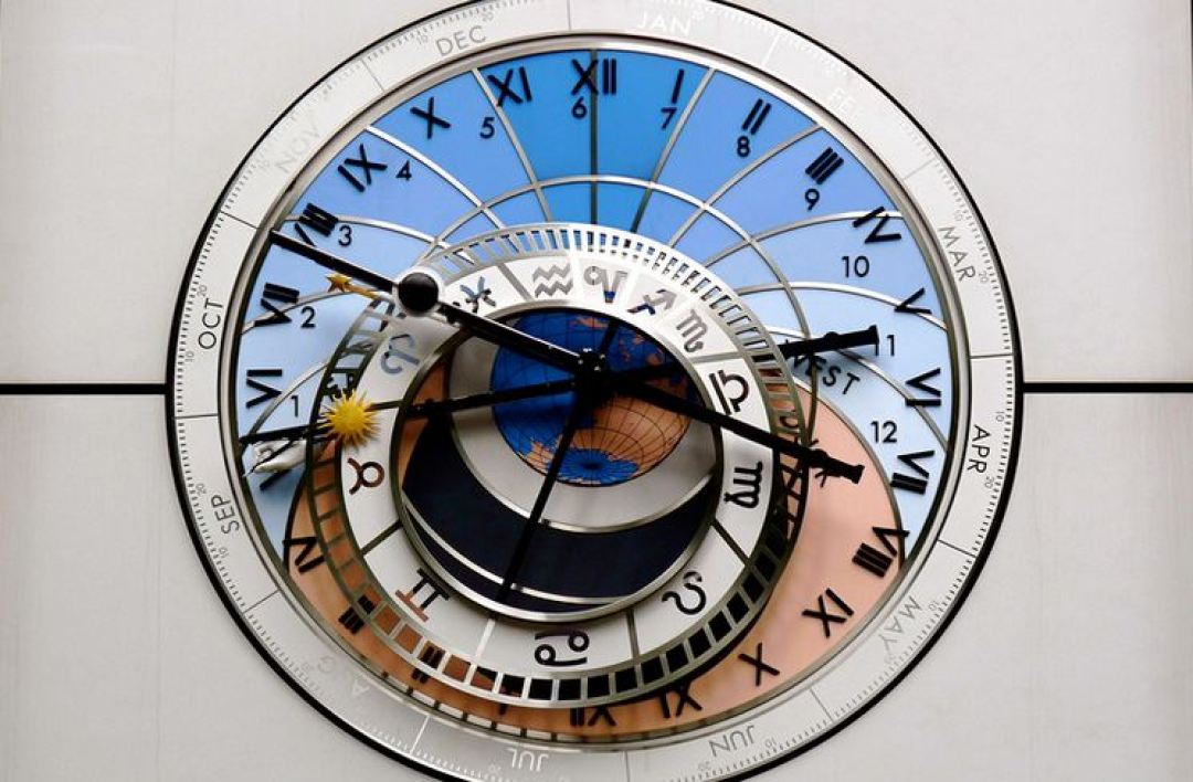 Une horloge astronomique (illustration)