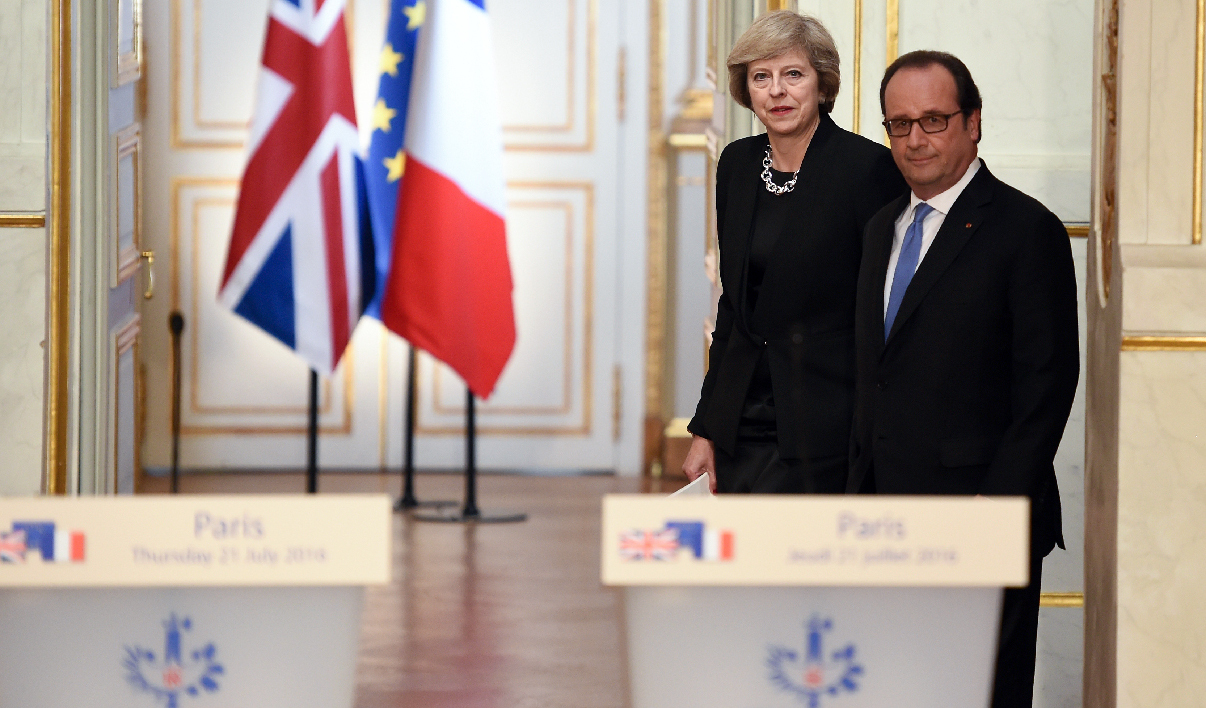 Theresa May et François Hollande