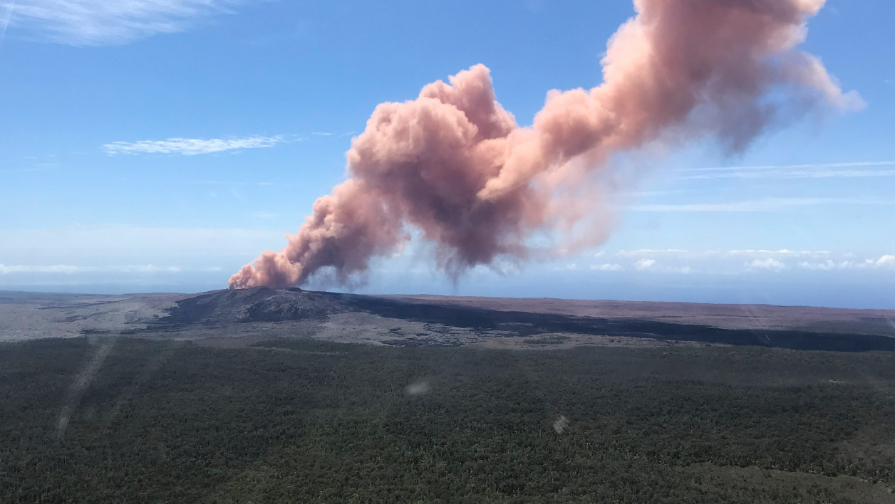 Éruption volcanique Hawaï