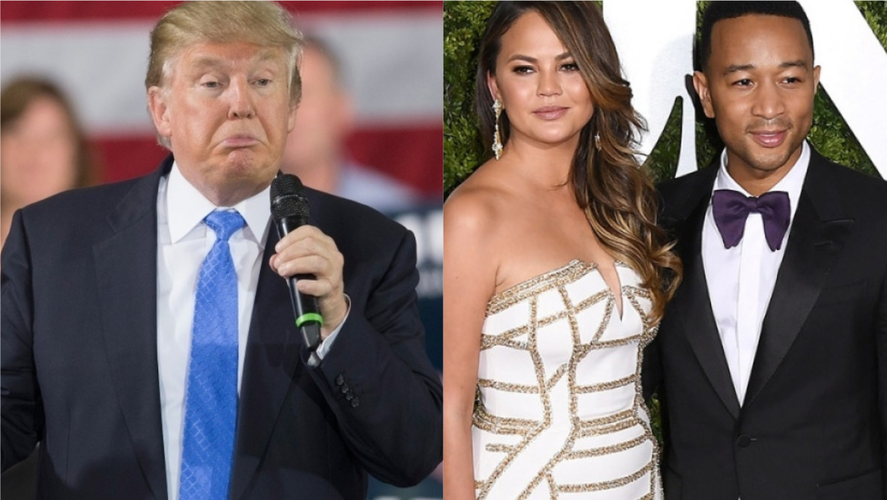 Donald Trump, Chrissy Teigen et John Legend