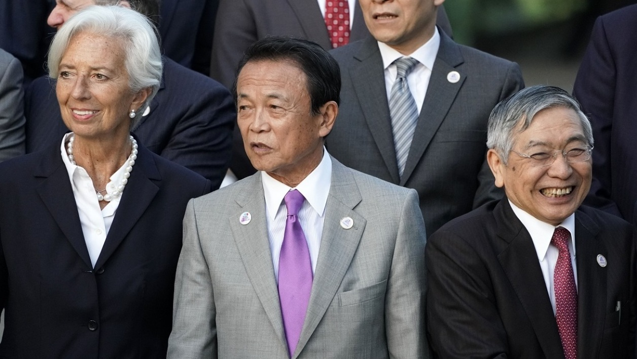 Lagarde FMI Aso Japon ministre des Finances