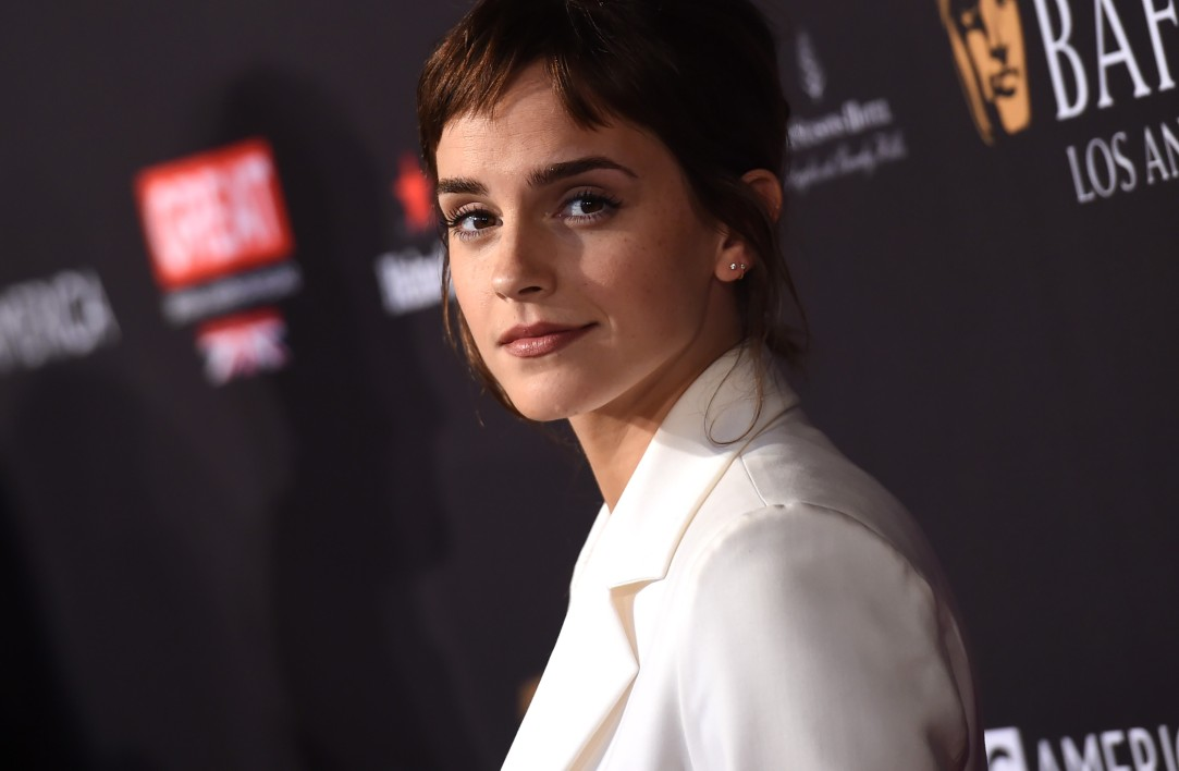 Emma Waston aux BAFTA Awards, à Los Angeles le 6 janvier 2018