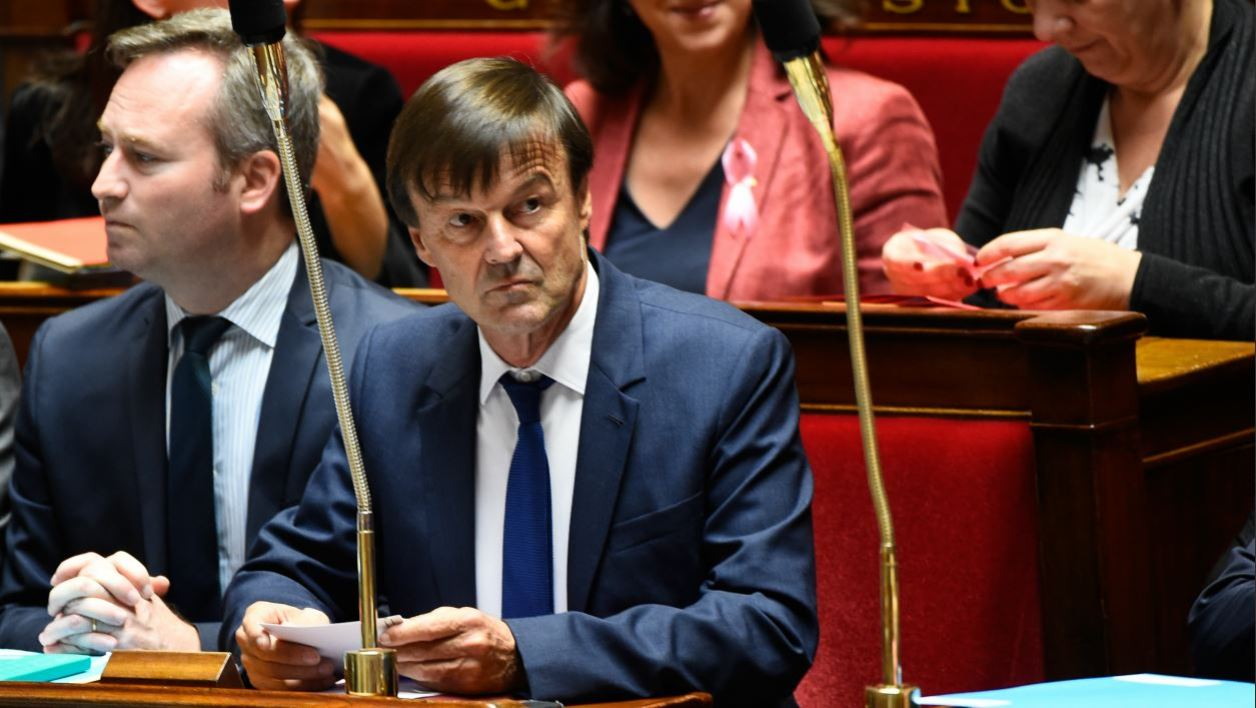 French Minister for the Ecological and Inclusive Transition Nicolas Hulot attends a session of questions to the government on October 10, 2017 at the French National Assembly, in Paris.  Bertrand GUAY / AFP