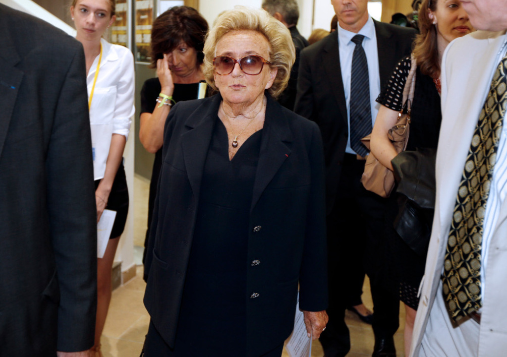 FRANCE, Nice : Former French first lady Bernadette Chirac arrives at the Claude Pompidou Institut, a centre for care and research of Alzheimer disease, on September 12, 2014 in Nice, southeastern France. AFP PHOTO / VALERY HACHE
