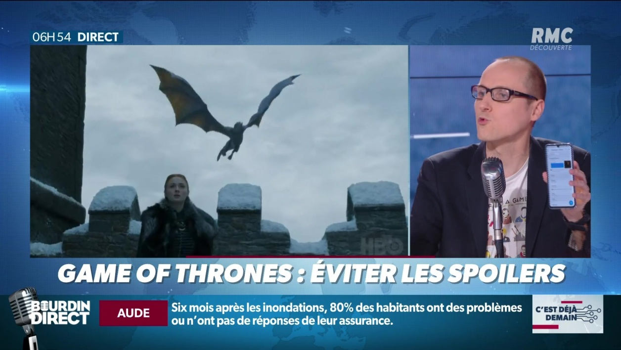 """La chronique d'Anthony Morel"": comment éviter les spoilers de ""Game of Thrones""?"