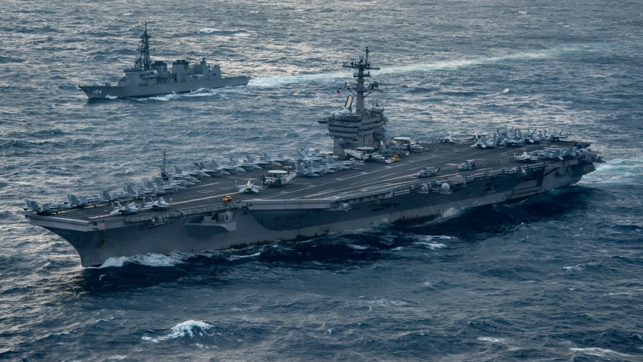 This US Navy handout photo obtained March 15, 2017 shows the aircraft carrier USS Carl Vinson (CVN 70).