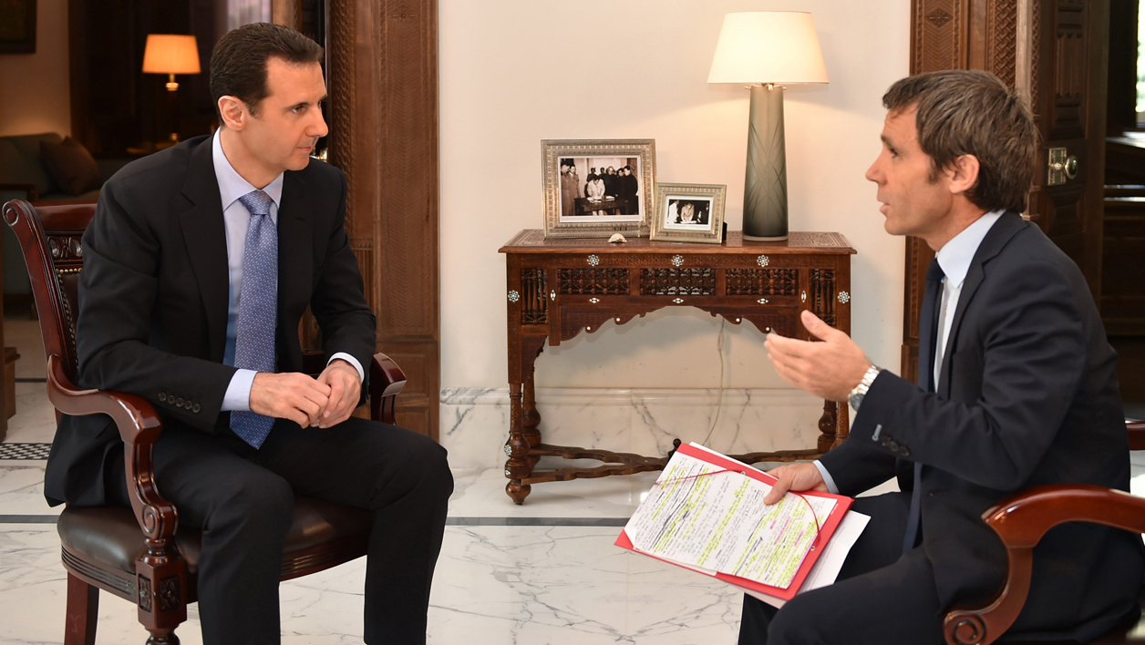 "Bachar al-Assad a été interviewé par ""France 2""."