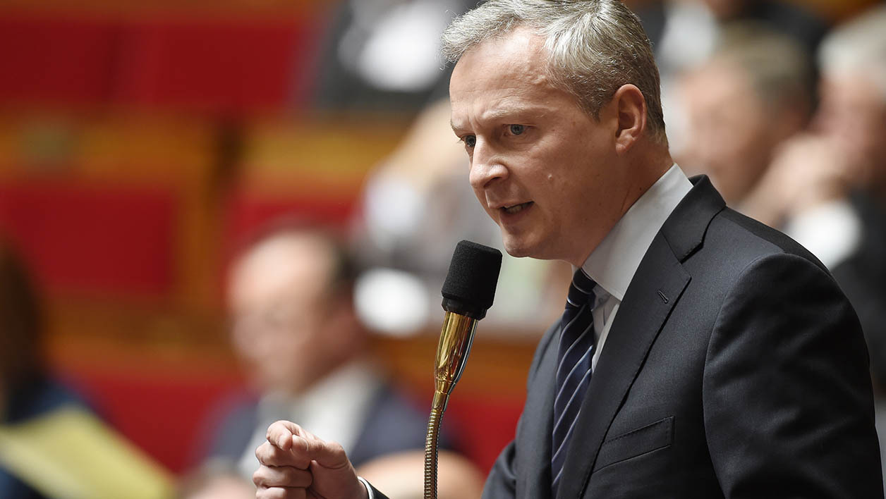 Bruno Le maire, lors d'une intervention à l'Assemblée nationale.