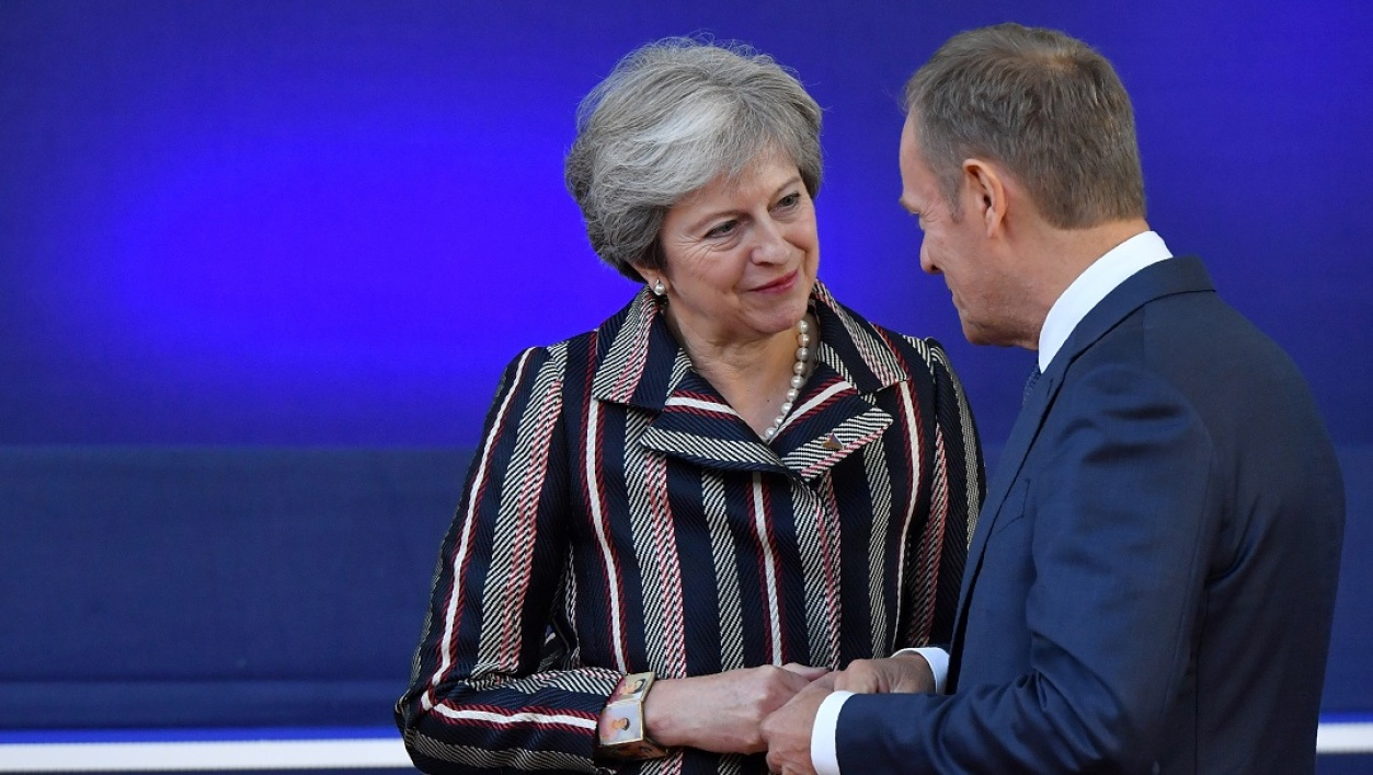 Theresa May et Donald Tusk
