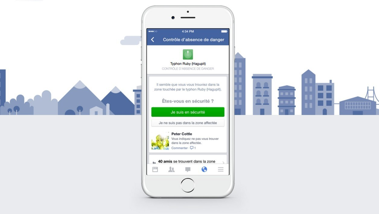 Berné par de fausses informations, Facebook active son Safety Check