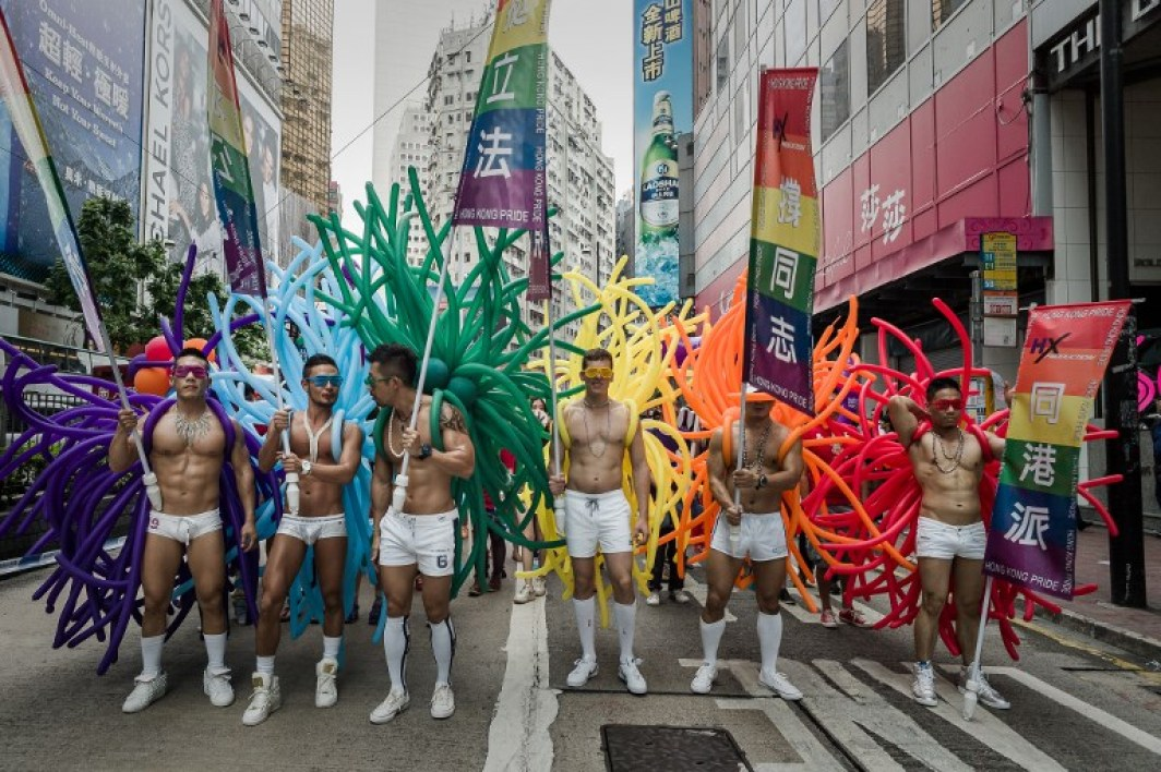 Des militants LGBT lors de la gay pride à Hong Kong en 2013 (image d'illustration)