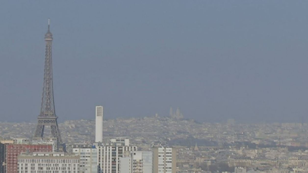 Pic de pollution à Paris, le 18 mars 2015.