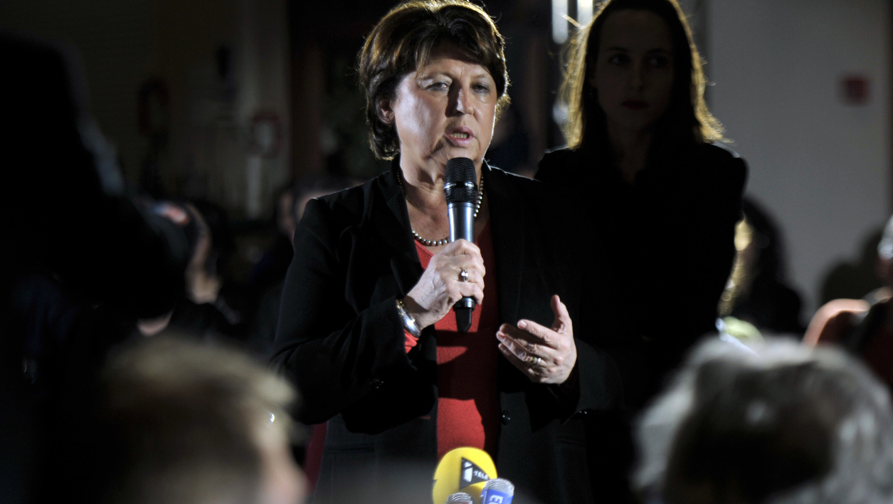 Martine Aubry en meeting à Lille