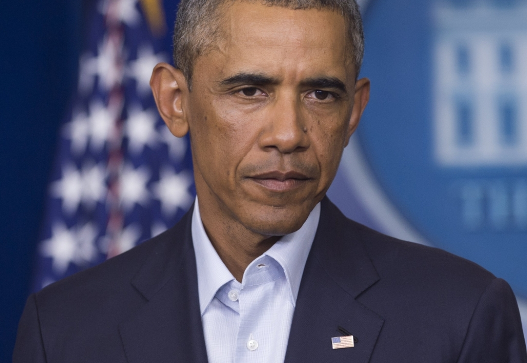 Barack Obama, lundi, lors d'un discours devant la presse internationale.