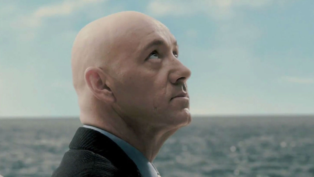 "Kevin Spacey dans la peau de Lex Luthor dans ""Superman Returns"" en 2006."