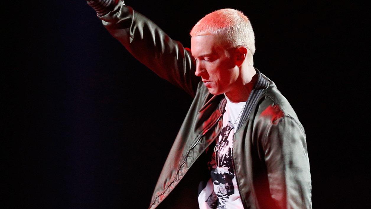 Eminem à Los Angeles le 13 avril 2014