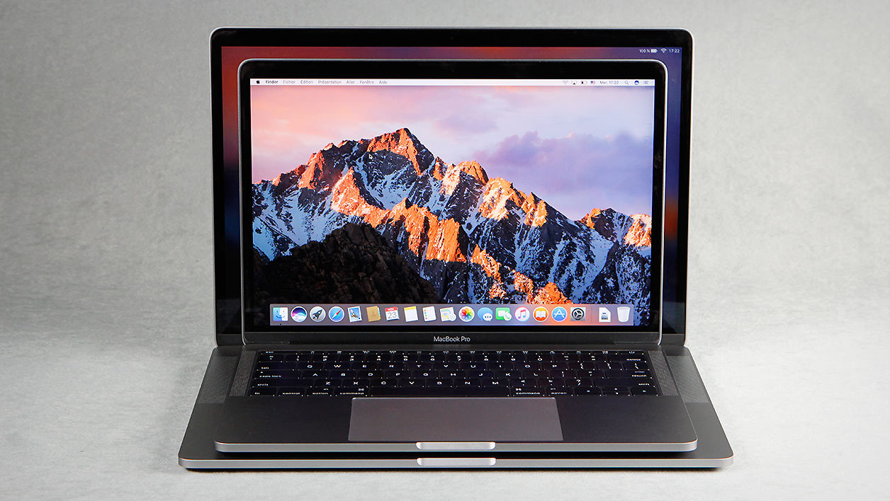 apple macbook pro 15 pouces core i7 2 7 ghz avec touch bar le test complet. Black Bedroom Furniture Sets. Home Design Ideas