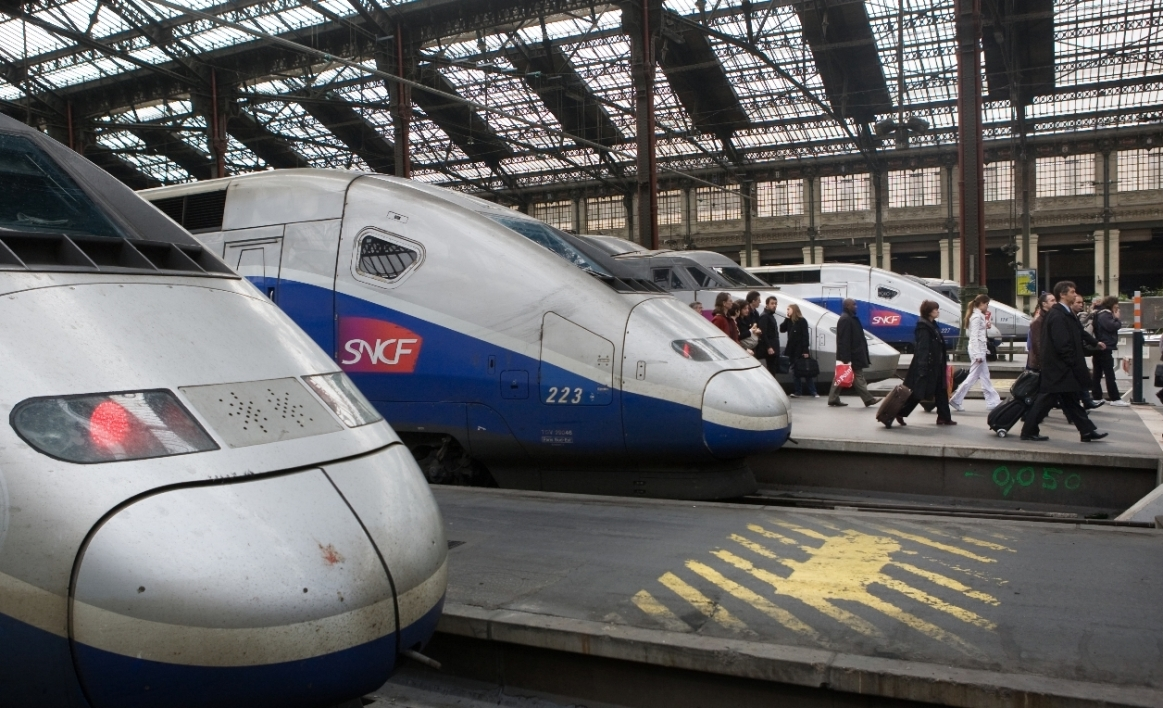 Des trains en gare SNCF (Photo d'illustration).