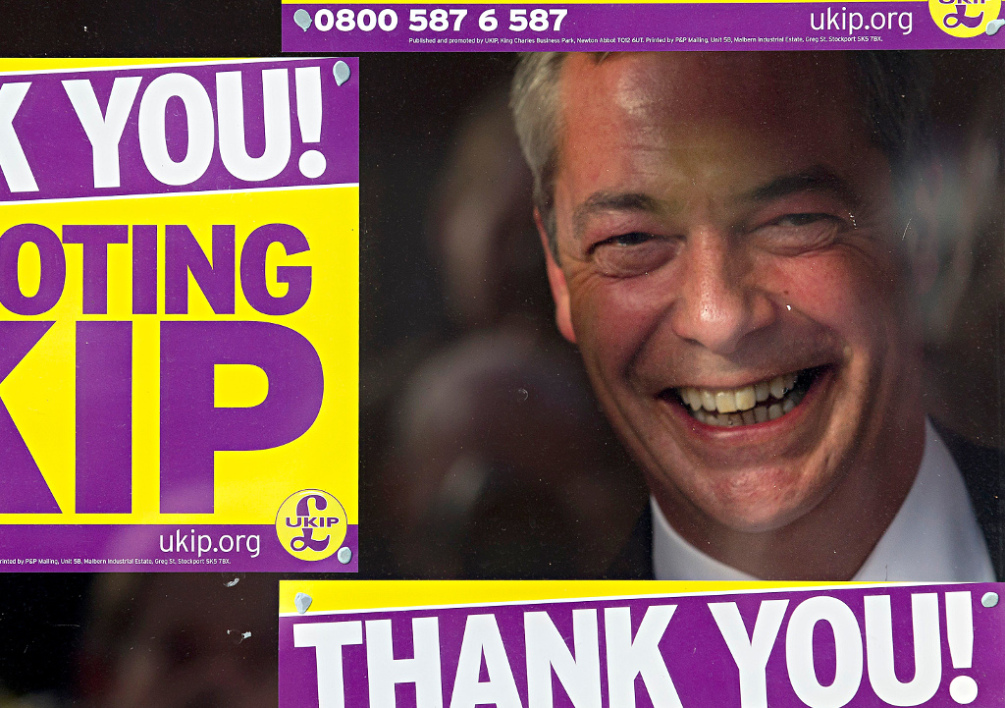 Nigel Farage, le leader de l'UKIP britannique