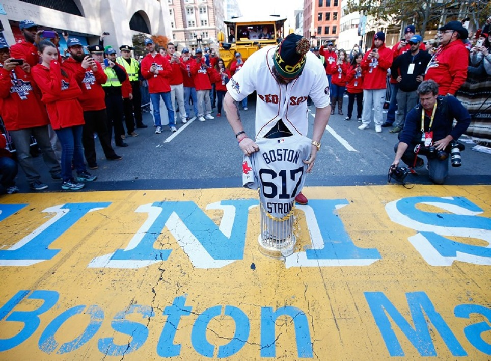 EN IMAGES : l'hommage des Red Sox de Boston
