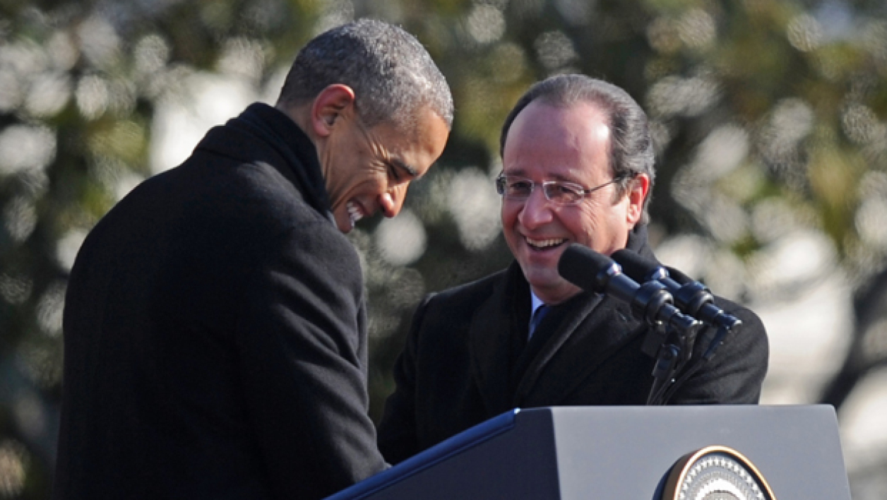 "Hollande à la Maison Blanche: ""It's cold in Washington"""
