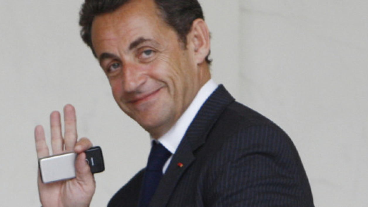L'ancien chef de l'Etat, Nicolas Sarkozy, à l'Elysée le 8 novembre 2007 (Photo d'illustration).