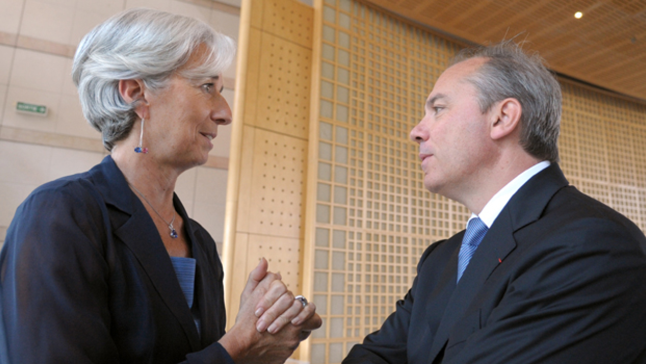 Christine Lagarde et Stéphane Richard, en 2010.
