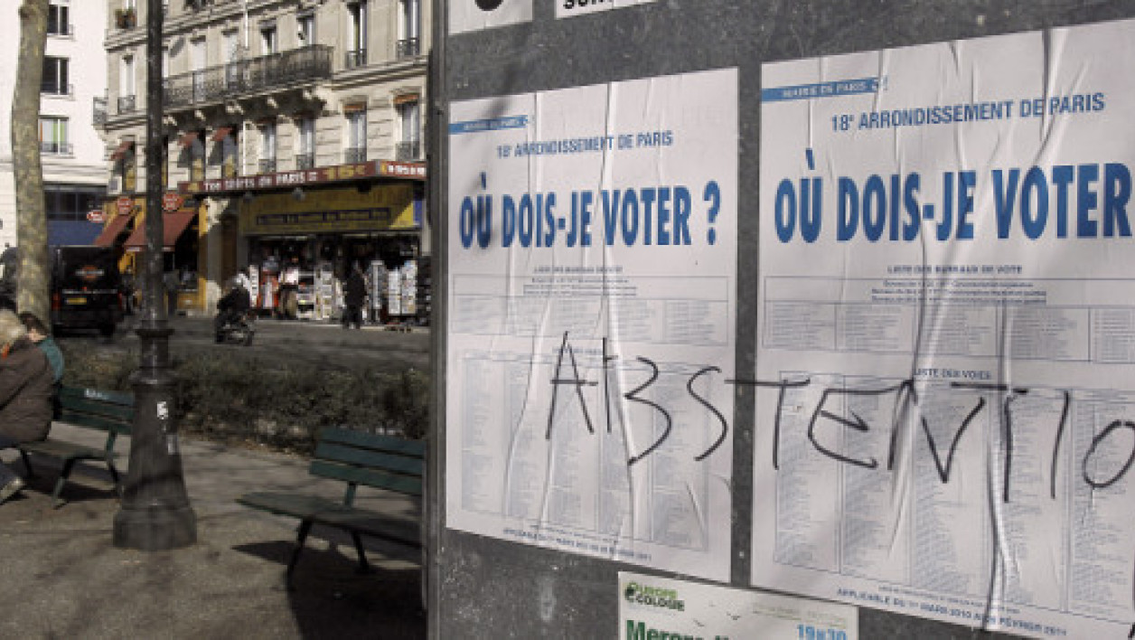 Municipales 2014: le nouveau record de l'abstention officialisé
