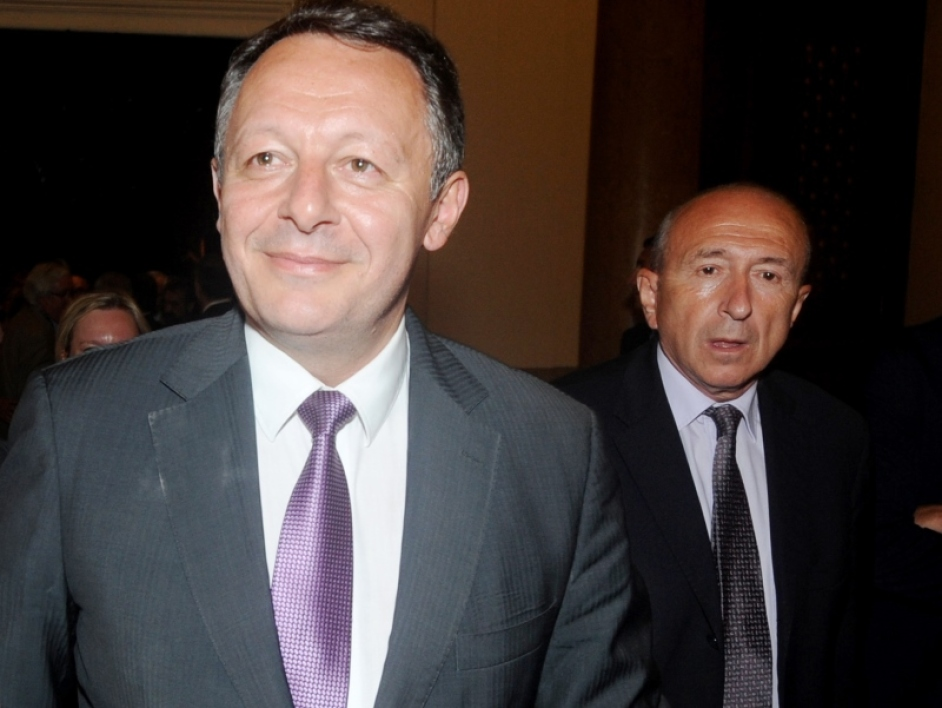 AU premier plan, Thierry Braillard (ancien adjoint aux Sports de Gérard Collomb, maire de Lyon, au second plan)