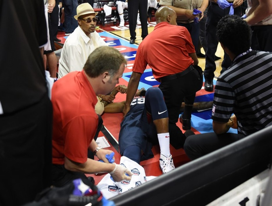 EN VIDEO : La terrible blessure de Paul George