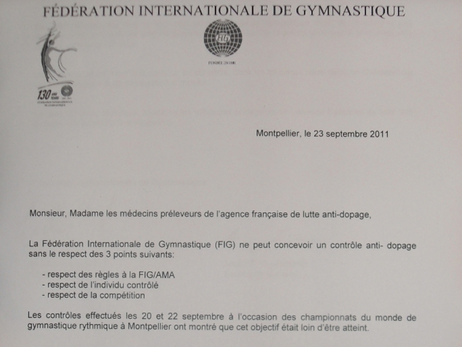 Dopage : quand la fédération internationale de gymnastique se rebelle...