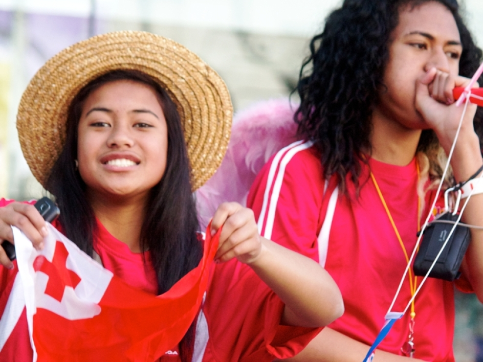 Une supportrice des Tonga