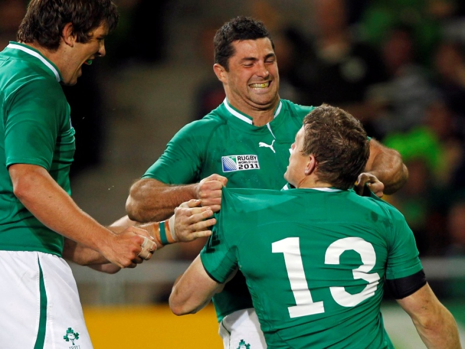 Tommy Bowe et Brian O'Driscoll