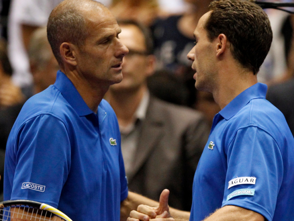Guy Forget et Michaël Llodra
