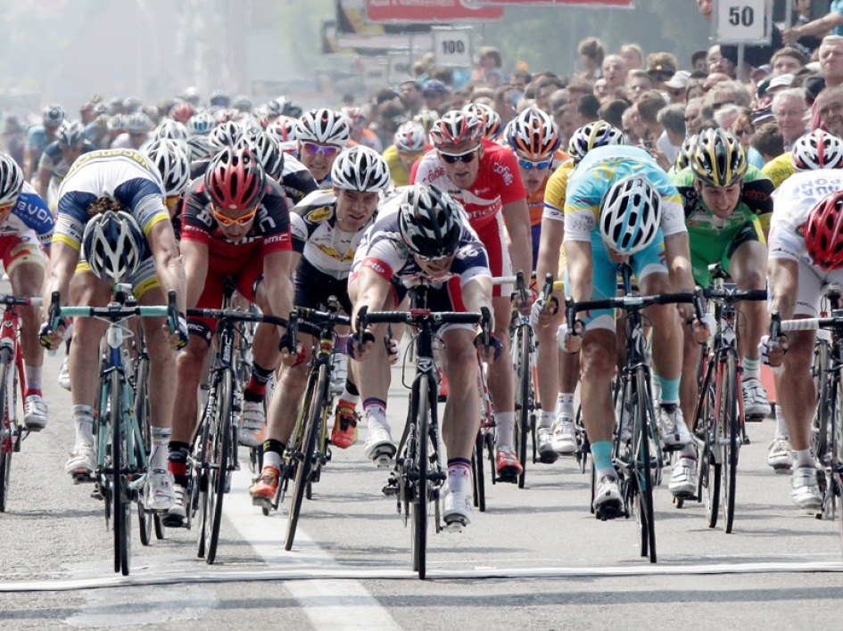 Un sprint sur le Tour de France