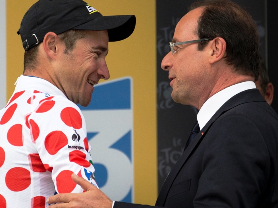 Thomas Voeckler et François Hollande